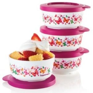 NEW Tupperware Butterfly Snack Cups